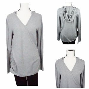 Duluth Trading Company Grey Hooded Top